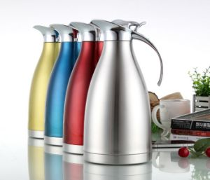 1000ml 18-8stainless Steel Vacuum Kettle with Steel Cover (WSB-003)