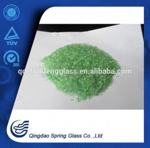 Crushed Green Clear Glass Particles pictures & photos