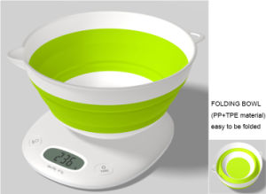 Folding Bowl Electronic Weighing Kitchen Scales (CK2518A) pictures & photos
