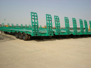 Two Axle Three Axle Low Bed Semi Trailer Hot Sale pictures & photos