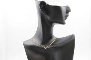 Heart Shaped Full Diamond Copper Necklace (NJB_0136)