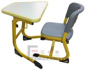 2015 Hot Sale School Furniture Plastic Classroom Student Desk and Chair pictures & photos