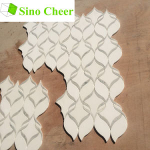 Yugoslavia White Waterjet Marble Mosaic, Marble Mosaic Pattern, Bathroom Tile for Decoration pictures & photos