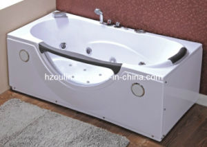 White Acrylic Sanitary Whirlpool Massage Bathtub (OL-002) pictures & photos