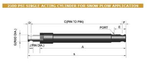 2500 Psi Single Acting Hydraulic Cylinder for Snow Plow pictures & photos
