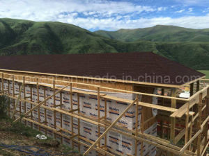 Tibetan Style Prefab Log Wood House-Two Floor pictures & photos