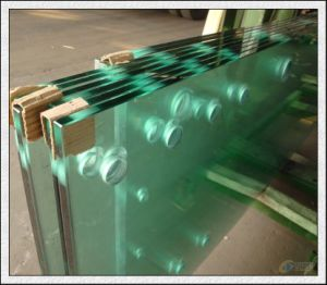 Tempered Glass with Holes Edge Polished pictures & photos
