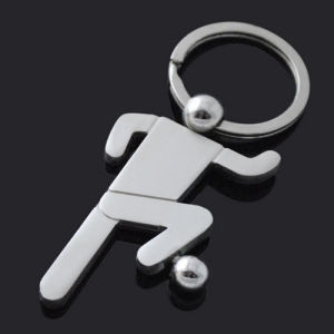 Promotion Brand Printing Metal Sport Keyring with Engrave Logo (F1377) pictures & photos
