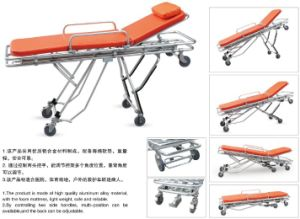 Aluminum Alloy Automatic Loading Ambulance Stretcher for Medical Emergency Rescue pictures & photos