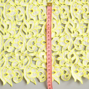 Yellow Design Noble Water Soluble Embroidery Textile Fabric