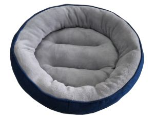 Round Denim & Flannel Dog Bed (WY161027) pictures & photos