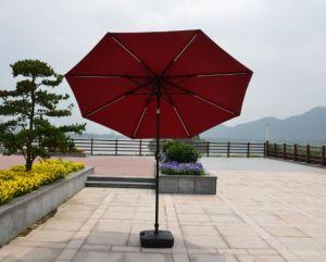 Solar Garden Umbrella Outdoor Umbrella Parasol with LED Light Umbrella pictures & photos