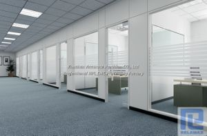 SGS Fireproof Single Glazed Glass Galvanized Steel Office Partition (1)