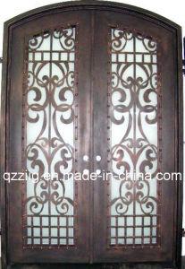 Exterior Wrought Iron Door with Eyebrow Top