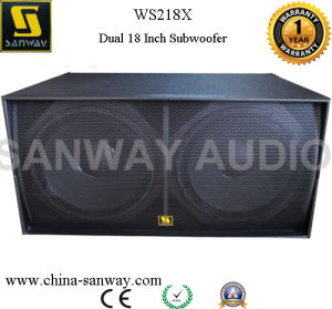 "Ws218X 2400W PRO Audio Dual 18"" Subwoofer Speaker Box design pictures & photos"