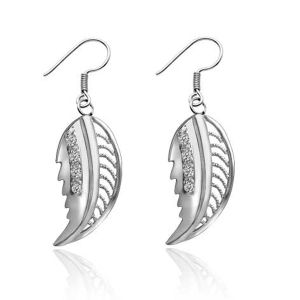 Wholesale Leaf Silver Earrings