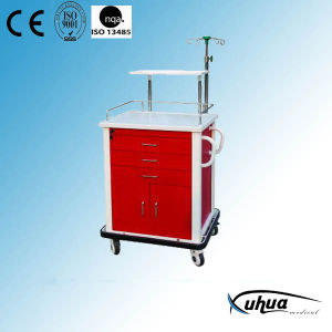 Moveable Steel Painted Hospital Medical Emergency Trolley (N-13) pictures & photos
