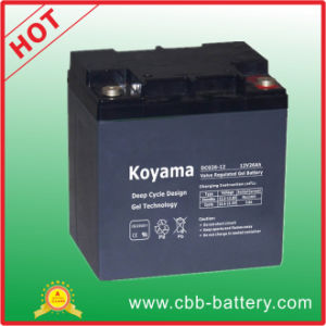26ah 12V Rechargeable Deep Cycle Gel Battery for Electric Boats pictures & photos