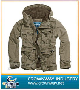 Men′s Vintage Coat with Hood (CW-VJ-2) pictures & photos