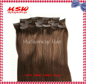 100% Top Real Human Hair Clip in Hair Extensions pictures & photos