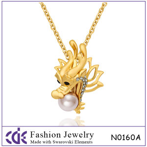 Dragon Gold Plated Jewelry with Swarovski Elements for Gifts Cde-N0160A