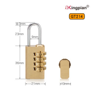 Brass Digital and Combination Lock for Bag and Luggage pictures & photos