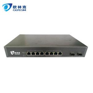 10/100/1000m 2 Fiber+8 RJ45 LC Gigabit Ethernet Fiber Switch