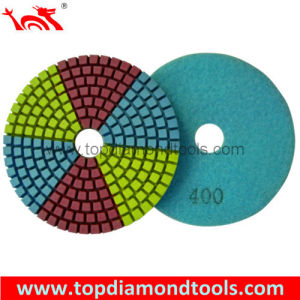 Diameter 100mm Dry Flexible Diamond Polishing Pads pictures & photos