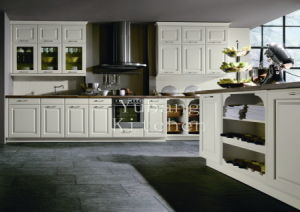 Hot Selling Solid Wood Kitchen Cabinet Home Furniture #229 pictures & photos