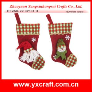 Christmas Decoration (ZY11S79-1-2) Hanging Christmas Stocking pictures & photos
