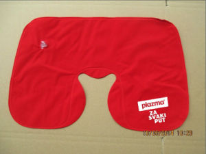 Customized Inflatable Neck Pillow with Sublimation Logo pictures & photos