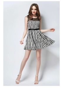Fashion A-Line Short Skirt Office Dress for Women with Necklace (JP-2015D073) pictures & photos