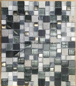 Modern Style Brown Glass and Marble Mosaic Tile for Wall Decoration pictures & photos