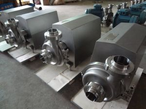 Food Sanitary High Pressure Centrigual Milk Pump pictures & photos