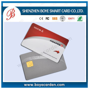 Beautiful Silver Hot Stamping Contact CPU Smart IC Card pictures & photos