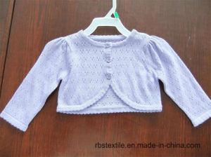 Girls Cotton - True Knitted Cardigan pictures & photos