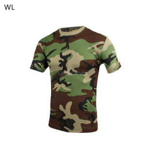 Outdoor Hunting Sport Woodland Combat Bdu Camouflage Tactical T-Shirt Cl34-0067 pictures & photos