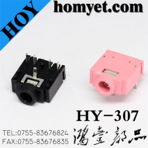 Black & Pink 3.5mm Phone Jack for Digital Products (HY-307) pictures & photos