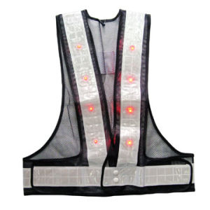 100% Polyester LED Reflective Vest Dxa01 pictures & photos