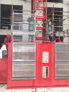 Double Cage Construction Hoist 2t Load Building Elevator Hoist pictures & photos