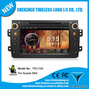 Android System 2 DIN Car Monitor for Suzuki Sx4 2006-2012 with GPS for iPod DVR Digital TV Bt Radio 3G/WiFi (TID-I124)