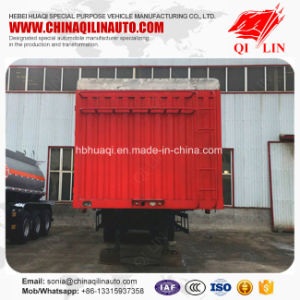 Red Color Storage Fence Semi Trailer for Bulk Cargo Loading pictures & photos