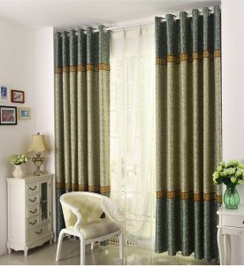 Suede Double-Faced Jacquard Cation Curtain Roman Curtain (MM-137) pictures & photos