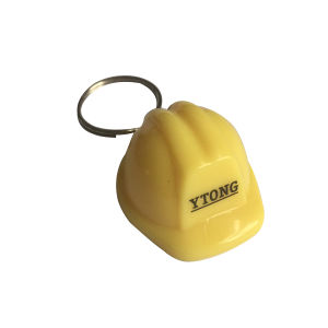 Promotional Customized Logo Safety Helmet Cap Plastic Keychain pictures & photos