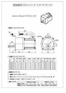 Brushless DC Gear Motor pictures & photos