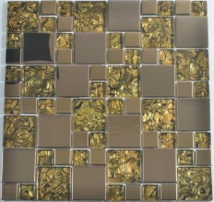 Glass, Foil Back and Metal Mix Glass Mosaic for China Ancient Style pictures & photos