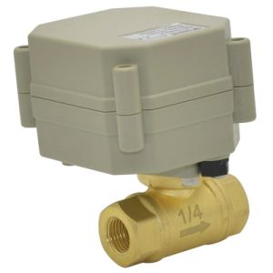 2 Way 1/4 Inch Electric Control Valve Motorized Flow Brass Water Ball Valve pictures & photos
