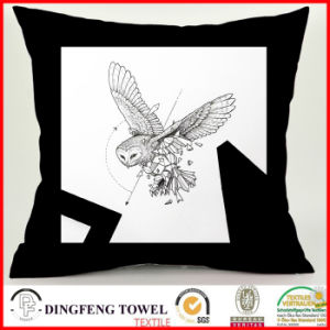 Black and White Series Abstract Owl Fashion Digital Printing Cushion Cover pictures & photos