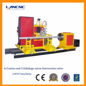 China Manufacturer CNC Pipe Flame and Plasma Cutting Machine, Tube Plasma Cutter with Hypertherm 45A