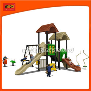 Outdoor Playground Playhouse with Slide (2277A) pictures & photos